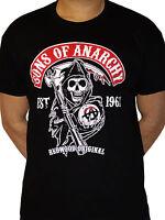 Sons of Anarchy Redwood Original Reaper Official TV series Black Mens T-shirt