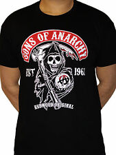 Sons of Anarchy Redwood Original Reaper Official TV series Black Mens T-shirt