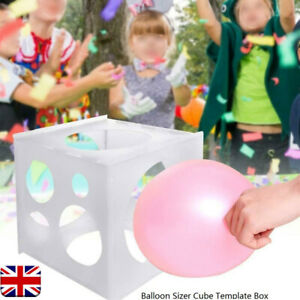 11 Holes Balloon Sizer Cube Template Box 2-10 inches Wedding Party Tools Durable