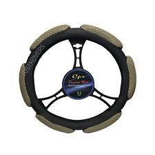 """Beige Steering Wheel Cover Soft 6 Grip Mesh Universal 14.5""""-15.5''"""
