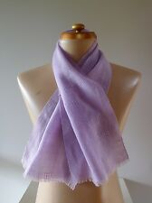 Vintage retro true 1940s purple mauve soft wool woven scarf Deco