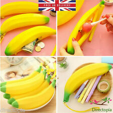 Silicone Banana Fruit Pencil Case Coin Purse Wallet Make Up Cosmetic Bag Pouch