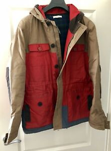 MEN'S SUIT RED / BEIGE JACKET / COAT  SIZE XL
