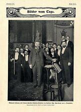 Edouard COLONNE avec son châtelet de paris-ORCHESTRE BERLIN Fellow. bienvenue 1901