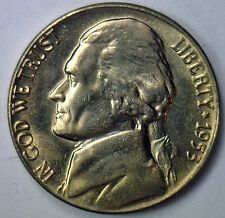 1953 D Jefferson Nickel UNC Five Cent Choice  Coin from Roll Made in USA #R