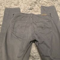 Women's AG Adriano Goldschmied Jeans Gray Size 27R The Edie Mid-Rise Skinny SOFT
