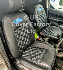 VAN SEAT COVERS FORD TRANSIT CONNECT 2014 -2017 TWO SINGLES  BLUE BENTLEY