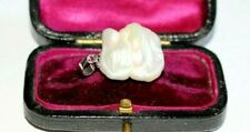 HUGE STERLING SILVER BAROQUE PEARL PENDANT. BEAUTIFUL LUSTRE. GIFT BOXED.