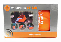 Wind Rester Orange Self Inflating Chair Camp Comfort Beach & Camping NEW