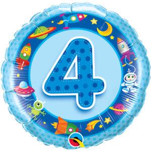 Niños 4th Globo de Cumpleaños