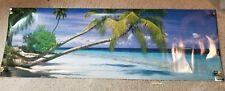 "Vintage Scandecor Concorde Panoramic Poster #4334 Paradise Beach 21x62"" huge!"