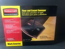 "Rubbermaid Commercial Floor & Carpet Sweeper Plastic Bristles 40"" Handle Black"
