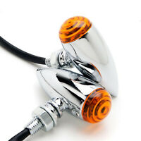 Bullet Amber Lens Turn Signal Blinker Indicator Light For Harley Davidson Fatboy