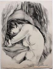 Lithographie originale en noir de Mariette LYDIS (1894-1970) signée au crayon