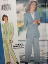 4202 Butterick Dressy Suit Pants Jacket Top Business Office Career Size 12 14 16