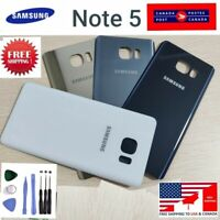 Back Battery Cover Glass replacement for Samsung Galaxy Note 5 with tape Tools