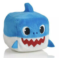 Pinkfong Shark Family 3 Inch Sound Cube Plush - Daddy Shark Blue