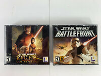 Star Wars Battlefront Star Wars Knights Of The Republic PC Video Game Lot Bundle