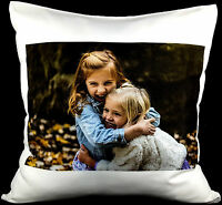 """Personalised Cushion Cover Printed Photo Lovely Gift 16"""" Custom Made Print"""