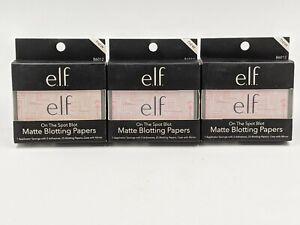 E.l.f. On The Spot Blot Matte Blotting Papers 25 each (3X)