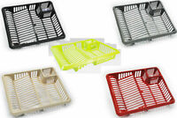 High Grade 47x39cm Plastic Dish Drainer Plate and Cutlery Rack Holder Dish Tray