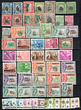 MALAYA STRAITS SETTLEMENTS NORTH BORNEO SABAH SELECTION OF USED STAMPS