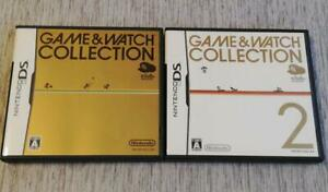 Nintendo DS Club Nintendo Limited Game & Watch Collection 1 & 2 set Japan NDS
