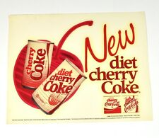 Coca Cola 18 x 14 cm autocollants USA 86' Decal - Neuf Régime Cerise Coke