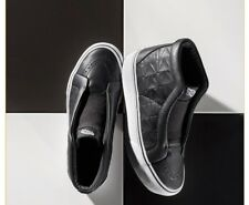 Women's Vans x Karl Lagerfeld Sk8-Hi Laceless Sneakers Quilted Leather BLACK 6