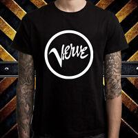 VERVE RECORDS Music Group Logo Men's Black T-Shirt Size S M L XL 2XL 3XL