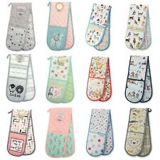 Country Club 100% Cotton Double Oven Gloves Mitts Padded Heat Resistant