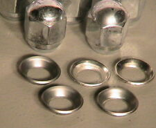 1928-1931 Model A Ford Chrome Acorn Lug Nut and SS. Washer Set of 5 each