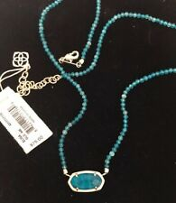 NWT Kendra Scott Elisa Beaded Pendant Necklace Teal Agate $75.00