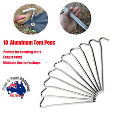 10pcs Aluminum Tent Pegs Ground Stakes Nail For Outdoor Camping Hiking 18CM O