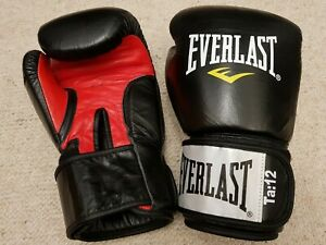 Everlast premium Fighter Leather Boxing Training Gloves12oz RRP €65.95