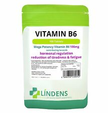 Lindens Vitamin B6 100mg 3-PACK 1 /day 300 tablets B-6 B 6