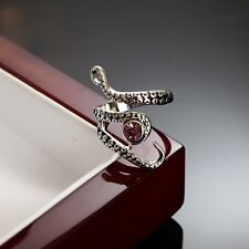 Crystals Stainless Steel Octopus Tentacle Ring Adjustable SIZE Q P R S T U V W 2