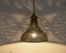 Handcrafted Moroccan Oxidize Brass Hanging Lamp Light Lantern Shade