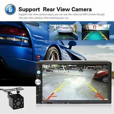 "2 DIN 7"" Car Video Player MP5 GPS FM Bluetooth Touch Screen Stereo Radio +Camera"