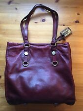 Marc by Marc Jacobs Bordeaux Leather Dr Q Classic Tote Pebbled Laptop Burgundy