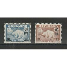 1956 Groenland Gronland Série Ours Polaire Soprastampato 2 Val Mlh MF73136