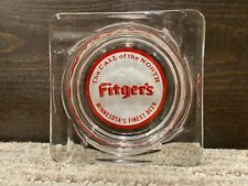 """Vintage Fitger's """"The Call Of The North� Glass Ashtray - Minnesota's Finest Beer"""