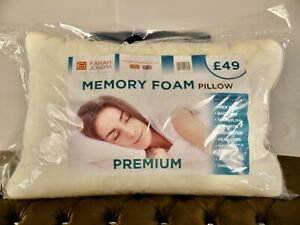 PREMIUM 2 x MEMORY FOAM PILLOWS HYPOALLERGENIC FIRM NECK SUPPORT