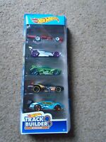 Hot Wheels 5 Car Pack Track Builder System 2019 Series - Brand New Boxed