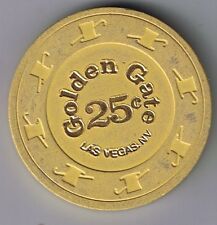 Golden Gate Hotel .25 Casino Chip Hat & Cane Mold Yellow LAS VEGAS NV