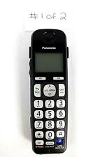 Cordless Phone Handset Panasonic KX-TGEA20 for Replacement Black Tested Works