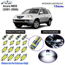 13 Bulbs LED Interior Light Kit Cool White Dome Light For 2001-2006 Acura MDX