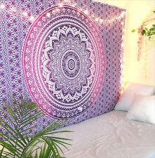 Purple Ombre Bohemian Mandala Tapestry Twin Indian Wall Hanging Bedspread Throw