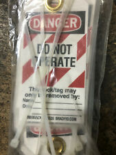 12x Danger DO NOT OPERATE Labels Tags signs Brady warning caution New 65520