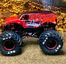 "spin master monster jam CUSTOM ""RED BARON"" 1/64 Monster Truck"
